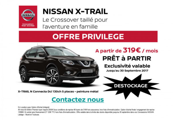 x trail offre privilege concession nissan toulouse. Black Bedroom Furniture Sets. Home Design Ideas